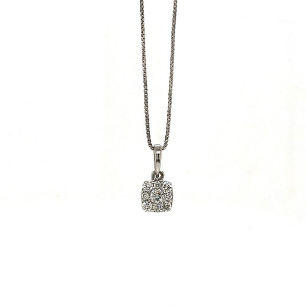 14KW Diamond Cluster Pendant (Chain Included)