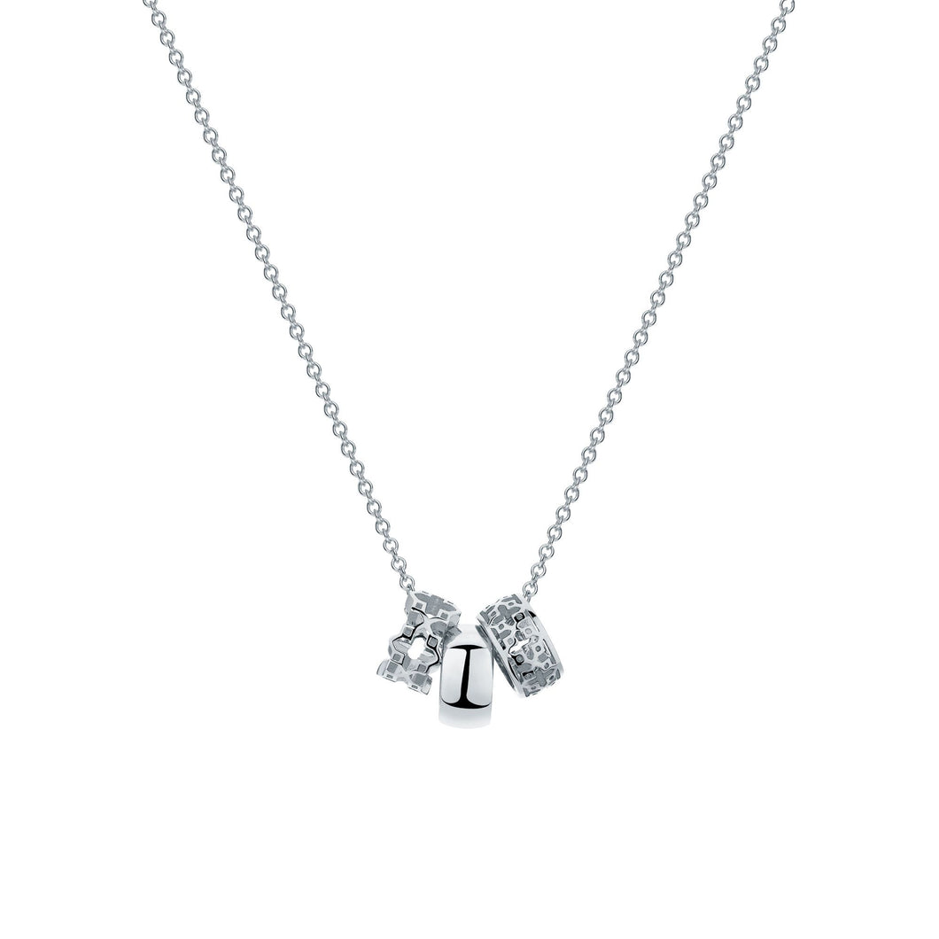 Birks Muse Sterling Triple Ring Necklace