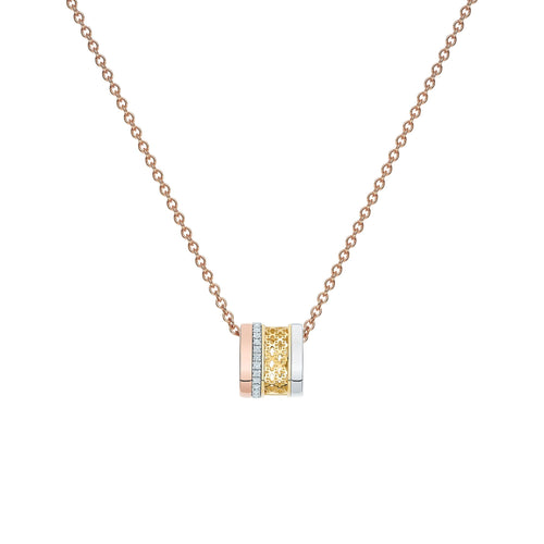 Birks Muse 18K Tri Gold and Diamond Necklace