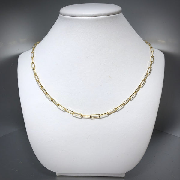 "14KY 20"" Paperclip Style Chain"