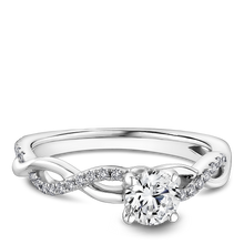 Load image into Gallery viewer, One Love Diamond Twist Engagement Ring In 14K White Gold