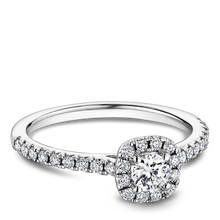 Load image into Gallery viewer, One Love Diamond Halo Engagement Ring In 14KW