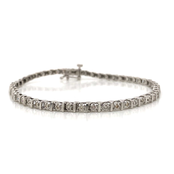 10KW Diamond Tennis Bracelet 0.50ctw