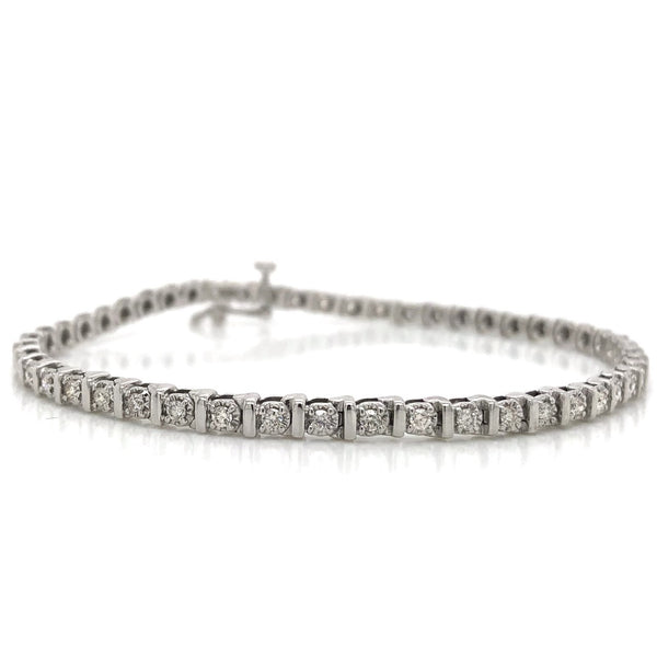 10KW Diamond Tennis Bracelet 1.00ctw