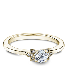 Load image into Gallery viewer, One Love Diamond Floral Engagement Ring In 14K Yellow Gold