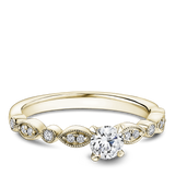 One Love Diamond Engagement Ring In 14KY With Milgrain Edges