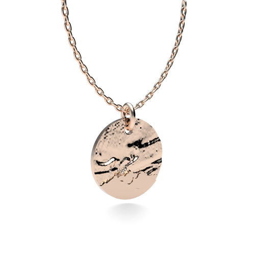 Rose Gold Plated Silver Northern Lights Pendant with 18'' Chain *PRE-ORDER NOW*