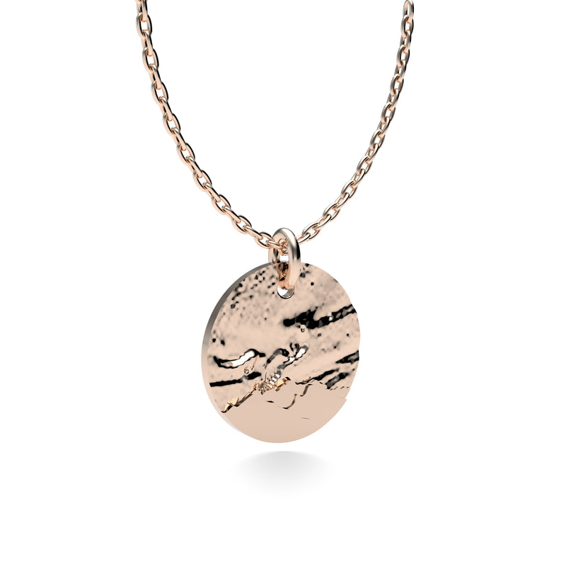 Rose Gold Plated Silver Northern Lights Pendant with 18'' Chain