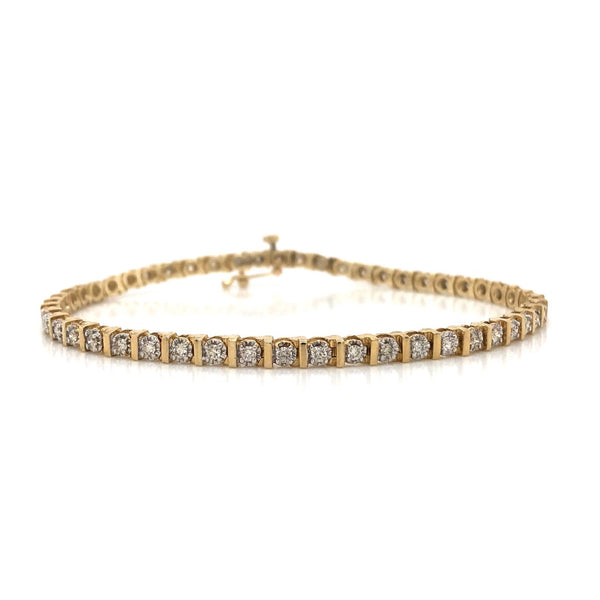 10KY Diamond Tennis Bracelet 1.00ctw
