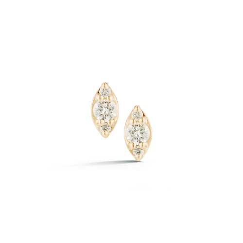 Dana Rebecca 14KY Sophia Ryan Mini Marquise Diamond Stud Ear