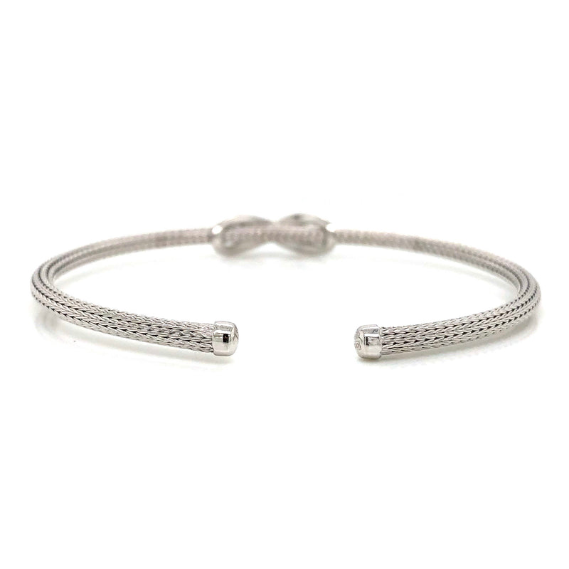 Sterling Silver Open End Bangle