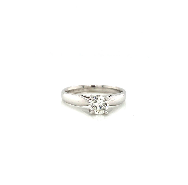 14k White Gold and Platinum 0.45ct Solitaire Engagement Ring