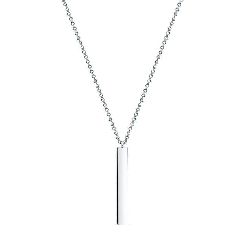 Birks Sterling Vertical Bar Necklace
