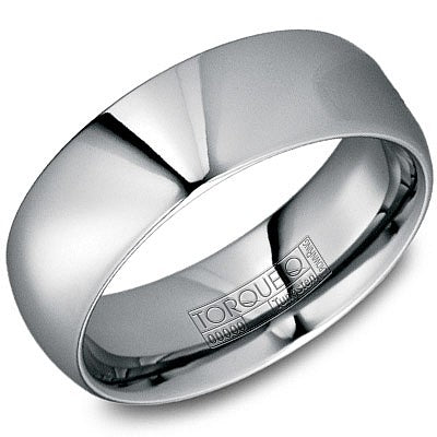 8mm Wide Tungsten Carbide Ring With High Polished Finish