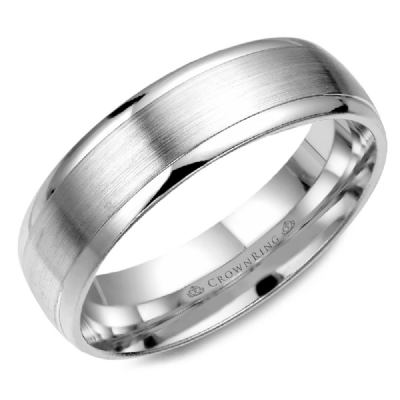 Classic 6mm Wedding Band Sandpaper Finish And Polished Edges