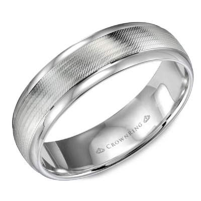 Classic 6mm Wedding Band High Polish Finish With Pattern