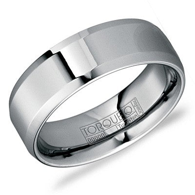 8mm Wide Tungsten Carbide Ring High Polish