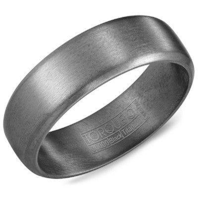 7mm Wide Tantalum Ring With Sandpaper Finish