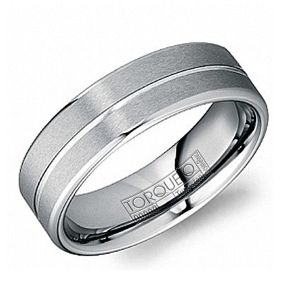 6mm Wide Tungsten Carbide Ring With Brushed Top And High Polished Groove