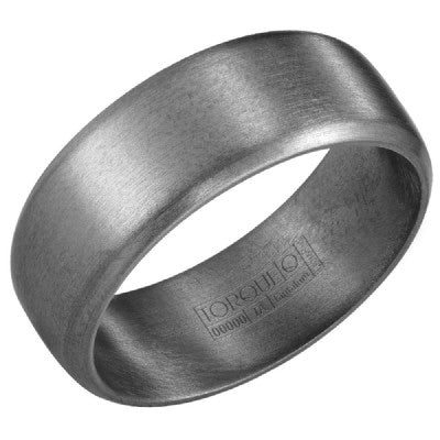 8mm Wide Tantalum Ring With Sandpaper Finish