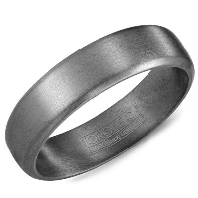 6mm Wide Tantalum Ring With Sandpaper Finish