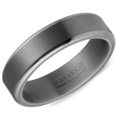 6mm Wide Tantalum Ring With Sandpaper Finish And High Polished Edges
