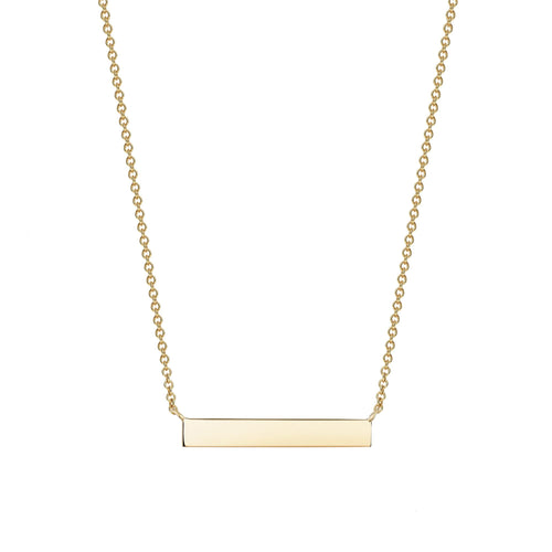 Birks 18K Yellow Horizontal Bar Necklace