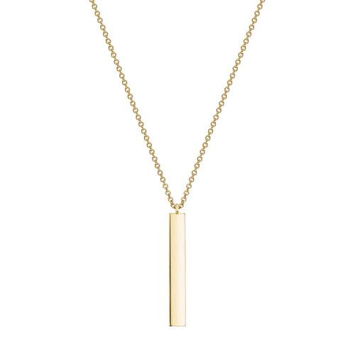 Birks 18K Yellow Vertical Bar Necklace