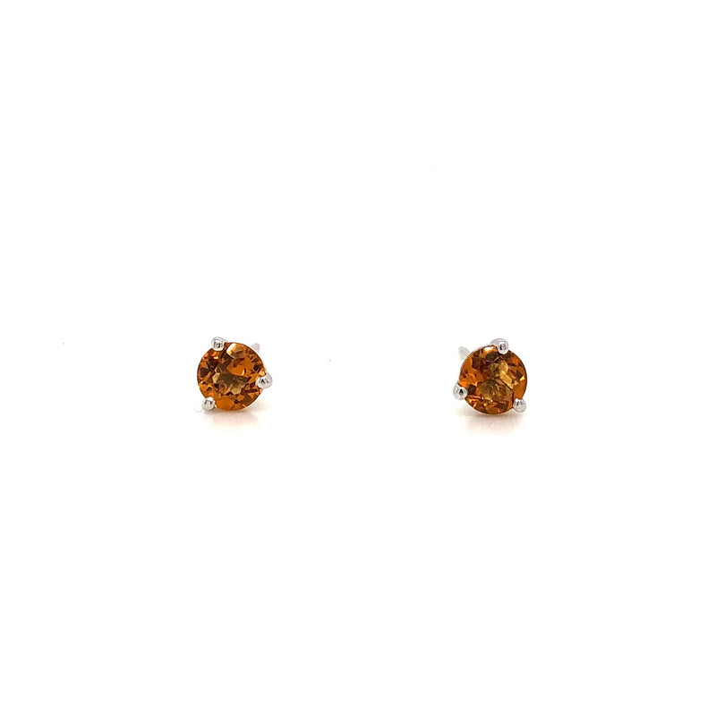 10KW Citrine Stud Earrings