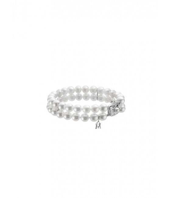 Mikimoto Double Strand Akoya Cultured Pearl Bracelet