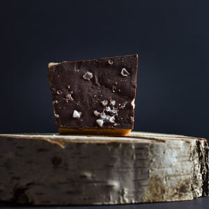 Farmer John Toffee - Dark chocolate & Cyprus Flake Sea Salt English Toffee