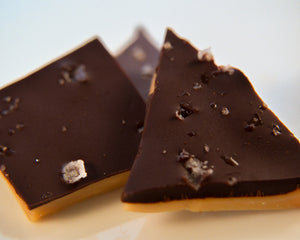 Dark chocolate & Cyprus Flake Sea Salt English Toffee