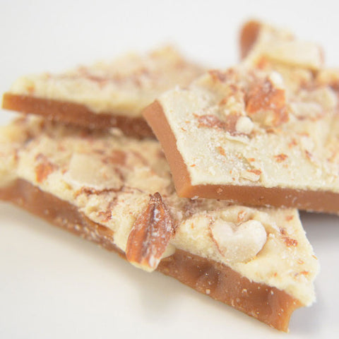 White Chocolate and Almond English Toffee