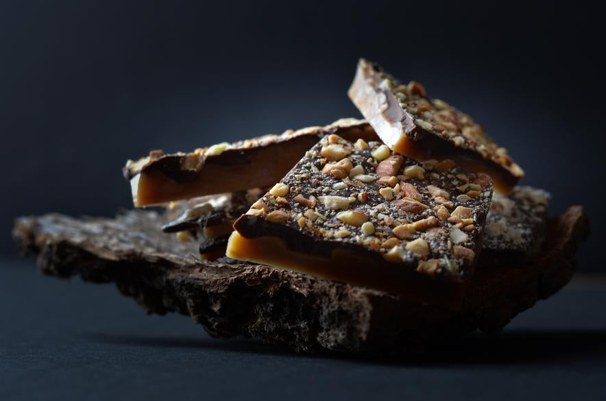 An American Classic, The Mustang. Semi Sweet Chocolate and Toasted Almonds