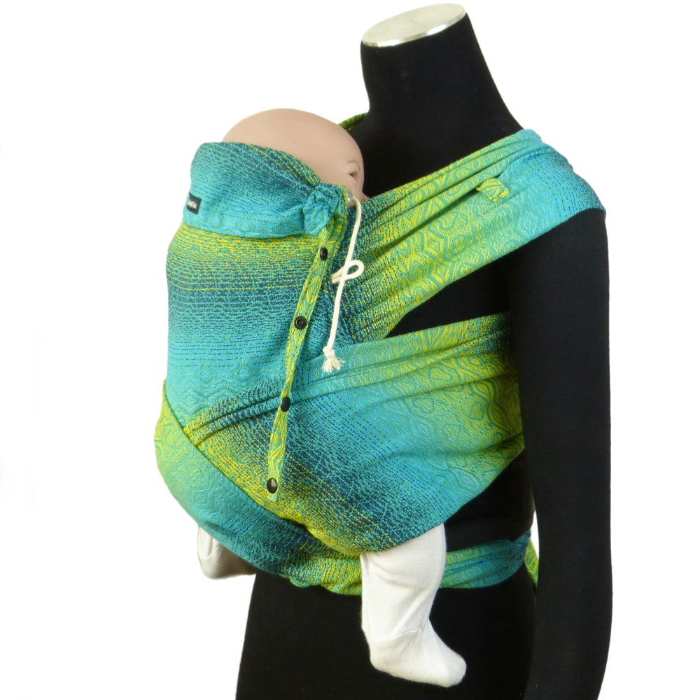 DidyKlick Baby Carrier, Hearts Malachit