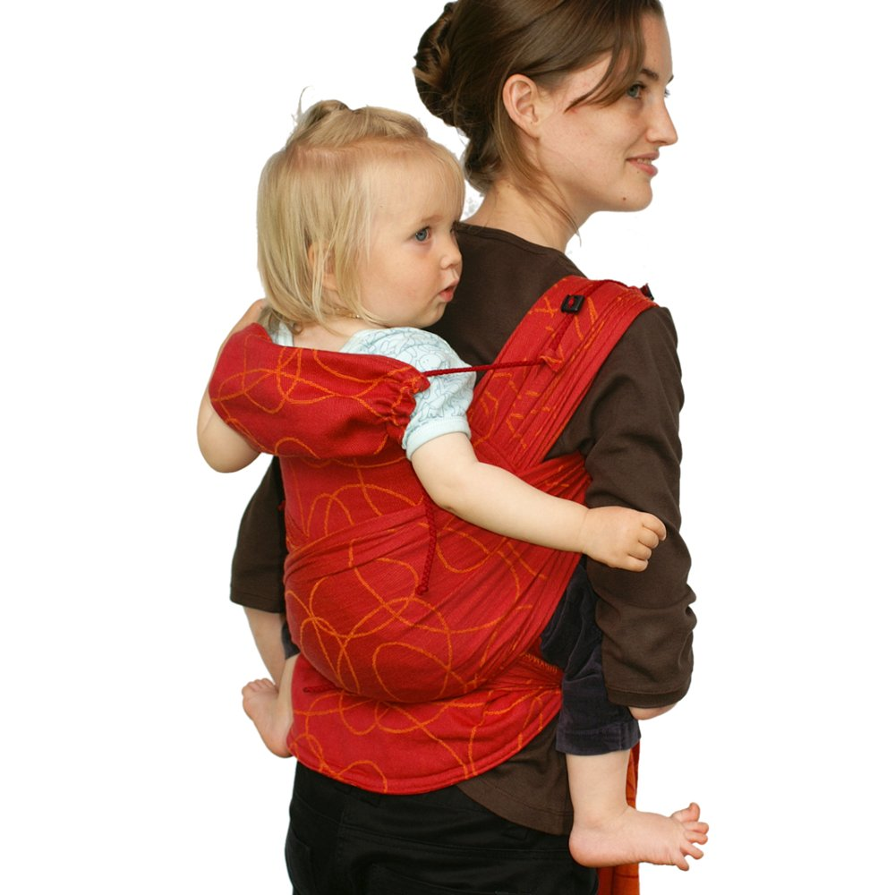 DidyTai Mei Tai Baby Carrier, Ellipses Red