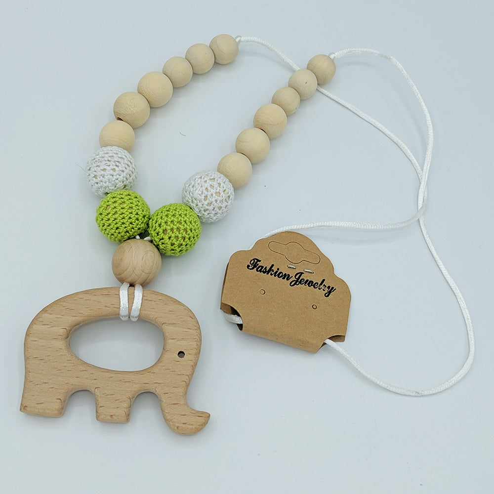 Babywearing nursing necklace, Jungle