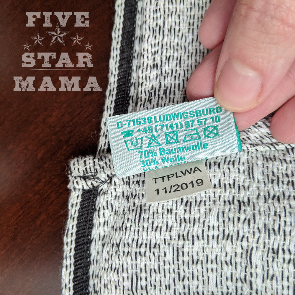 Pre-owned: DIDYMOS Baby Wrap Sling Teviot'14 Wool, size 4