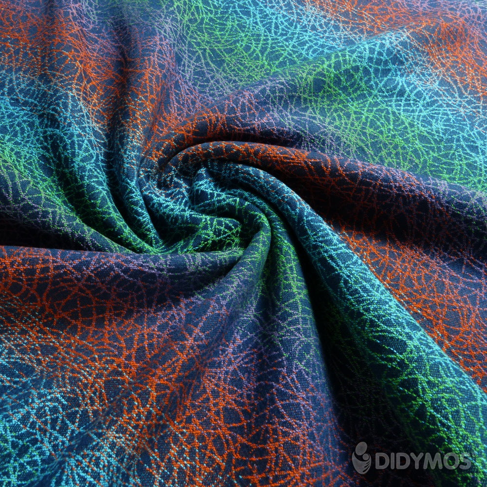 DIDYMOS Baby Wrap Sling, Fadenwerk Rainbow, Second Quality