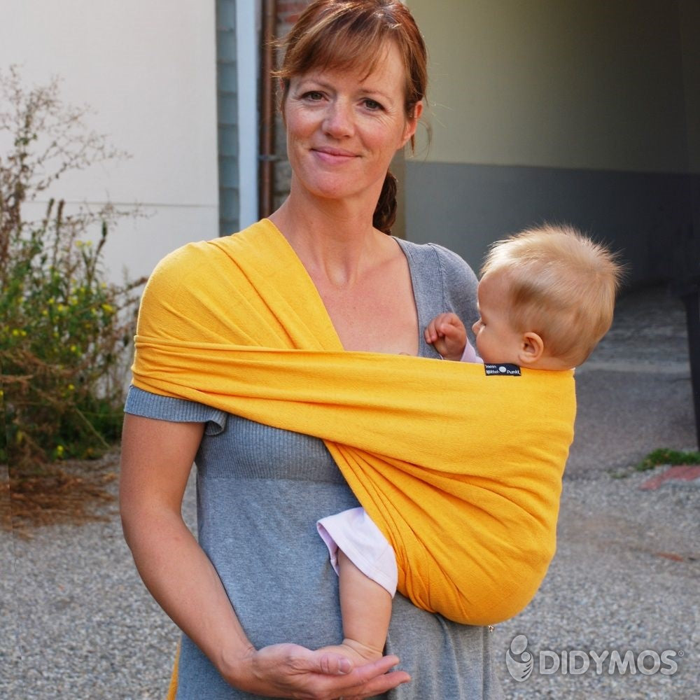 Pre-owned: DIDYMOS Baby Wrap Sling Prima Yellow, size 2