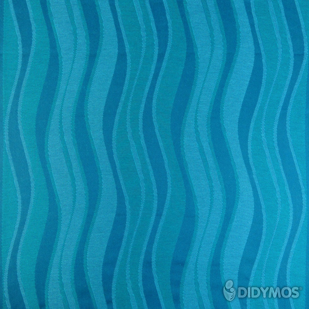 Pre-owned: DIDYMOS Baby Wrap Sling Waves Aqua, size 2