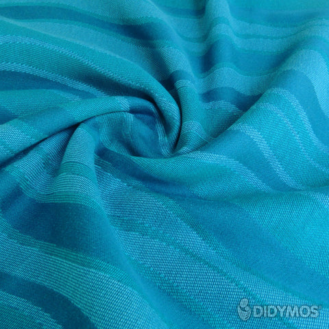 Rental: DIDYMOS Baby Wrap Sling Waves Aqua, size 2