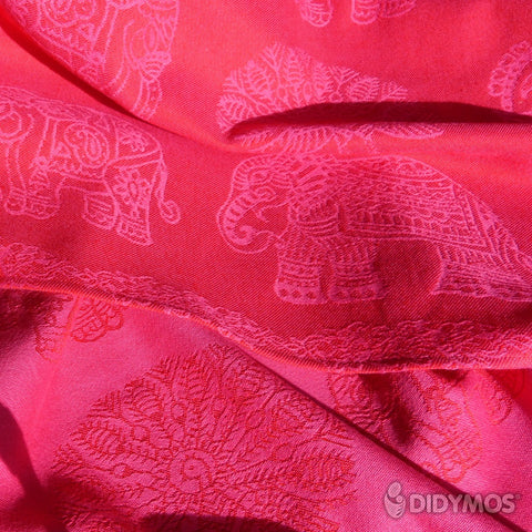 Rental: Baby Wrap Sling India Pink Wool, size 3