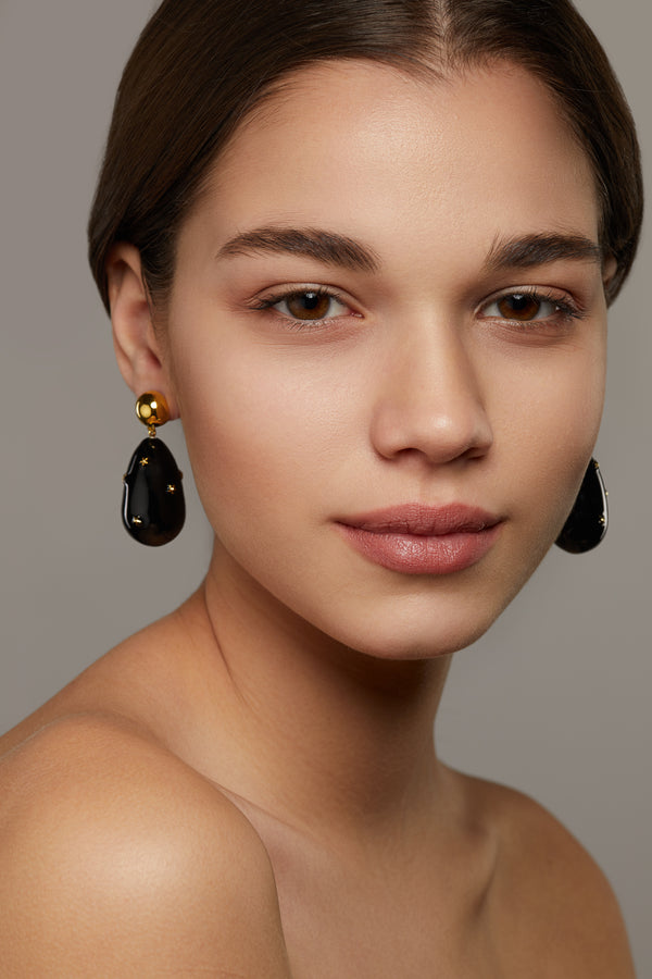 Drop Earring with Stars