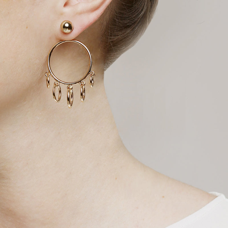 Hula Hoops pair earrings