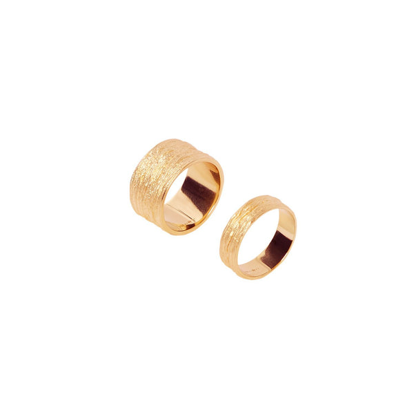 Capsule set of two rings