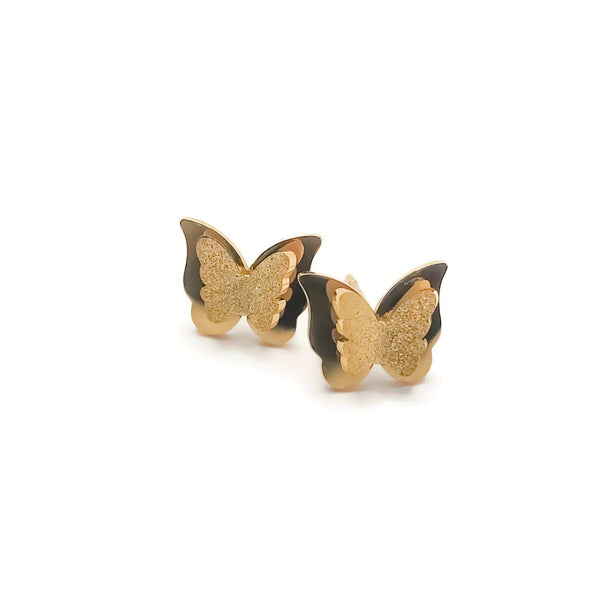 Bria Butterfly Studs - Krave Jewelry Co - Bracelets Necklaces Earrings