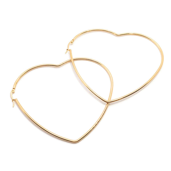 Heart to Heart Hoops - Krave Jewelry Co - Bracelets Necklaces Earrings