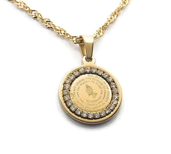 Prayer Medallion Necklace - Krave Jewelry Co - Bracelets Necklaces Earrings