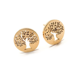 Tree of Life Studs - Krave Jewelry Co - Bracelets Necklaces Earrings